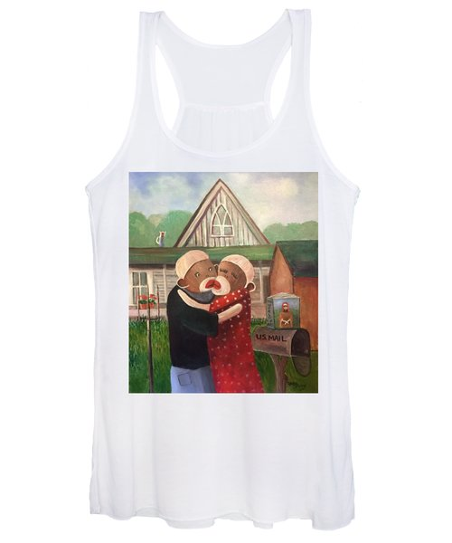 American Gothic The Monkey Lisa And The Holler Women's Tank Top