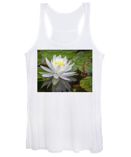 American White Water Lily Women's Tank Top