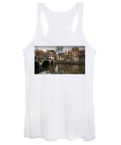 Amsterdam Canal Bridge Women's Tank Top