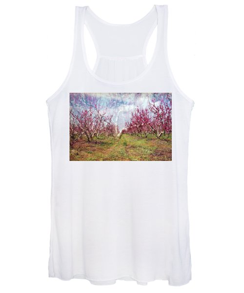 An Orchard In Blossom In The Golan Heights Women's Tank Top