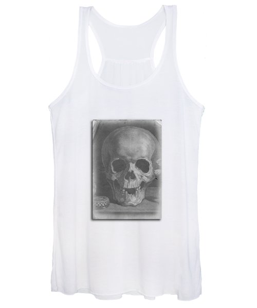 Women's Tank Top featuring the digital art Ancient Skull Tee by Edward Fielding