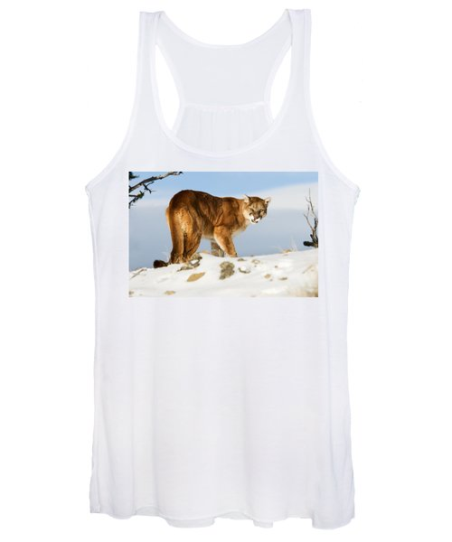 Angry Mountain Lion Women's Tank Top