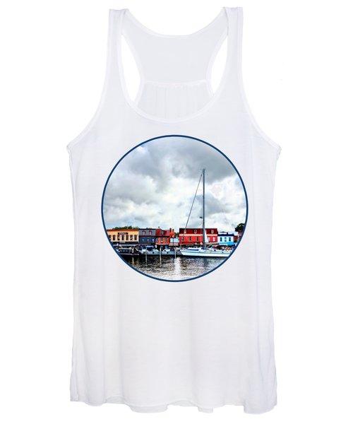 Annapolis Md - City Dock Women's Tank Top