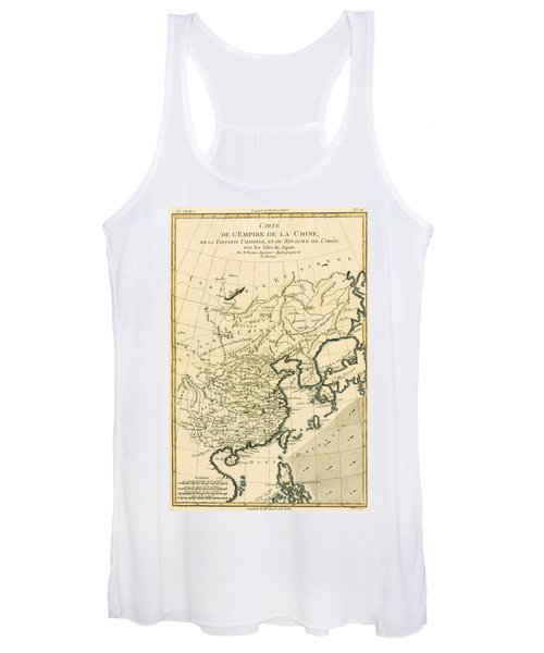 Antique Map The Chinese Empire Women's Tank Top