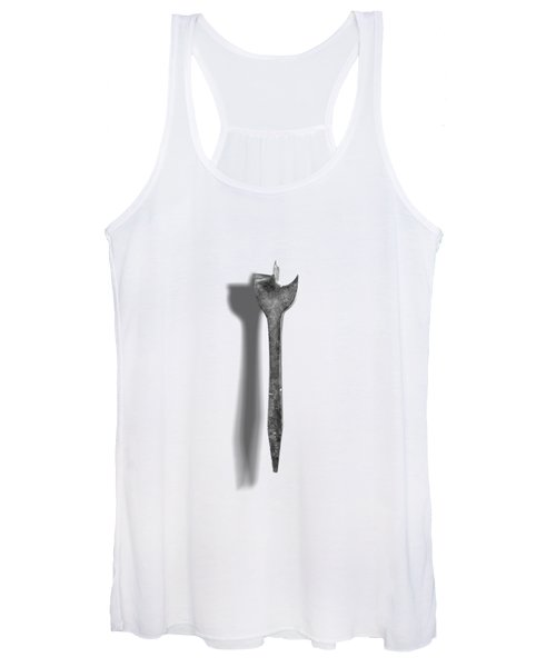 Antique Wood Drill Bit In Black And White Women's Tank Top