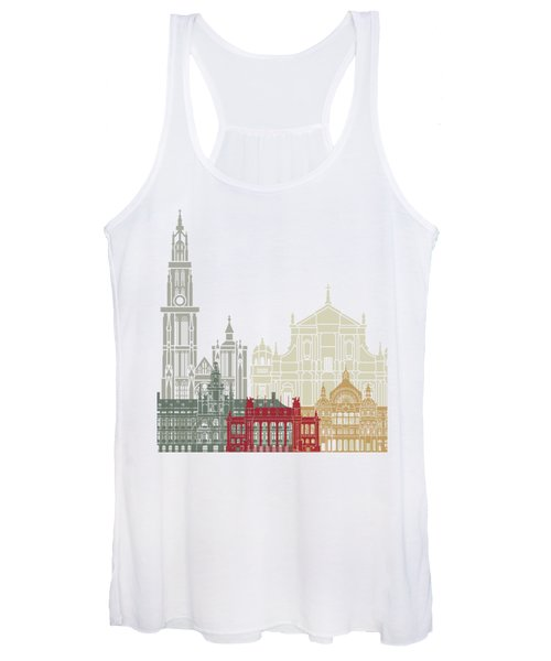 Antwerp Skyline Poster Women's Tank Top