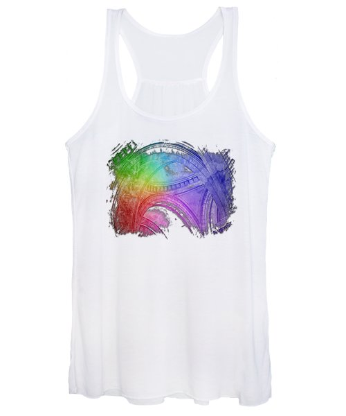 Arches Abound Cool Rainbow 3 Dimensional Women's Tank Top