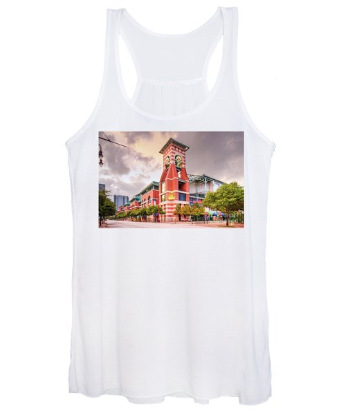 Architectural Photograph Of Minute Maid Park Home Of The Astros - Downtown Houston Texas Women's Tank Top