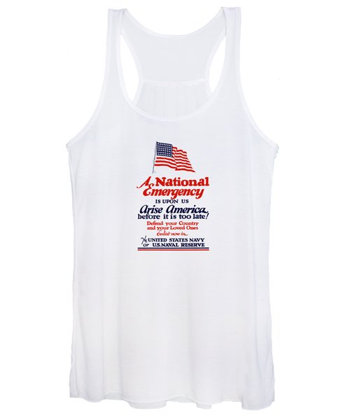 Arise America Before It Is Too Late - Join The Navy Women's Tank Top