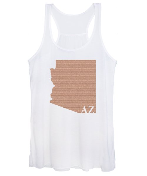 Arizona State Map With Text Of Constitution Women's Tank Top