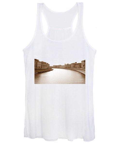 Arno River In Pisa Women's Tank Top