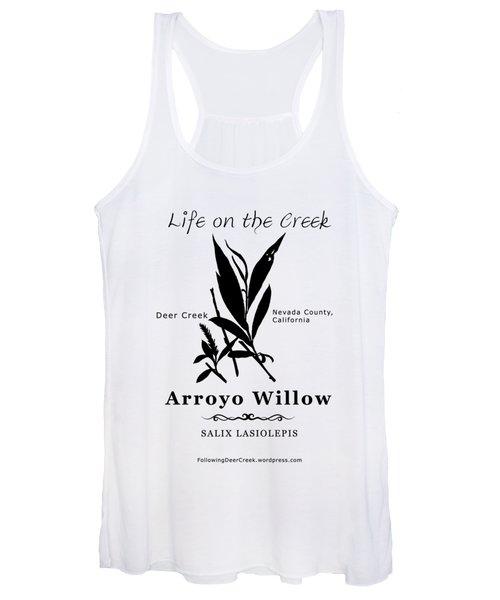 Arroyo Willow - Black Text Women's Tank Top