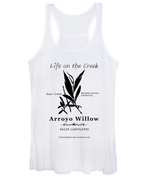 Arroyo Willow - Black Text Women's Tank Top