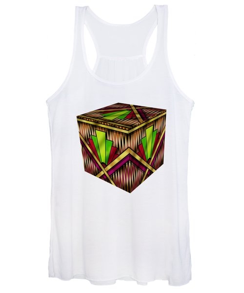 Art Deco 13 Cube Women's Tank Top