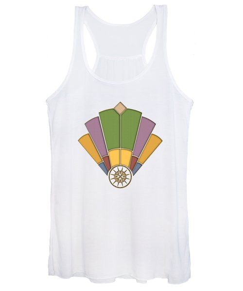 Art Deco Fan 2 Transparent Women's Tank Top