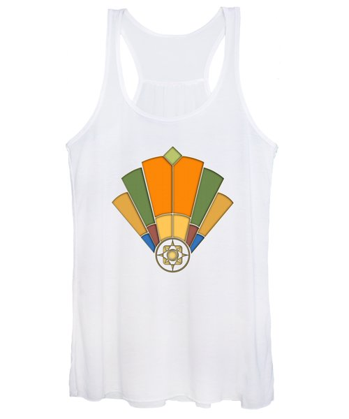 Art Deco Fan 8 Transparent Women's Tank Top