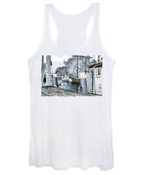 Art Print Boat 2 Women's Tank Top
