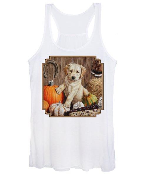 Pumpkin Puppy Women's Tank Top