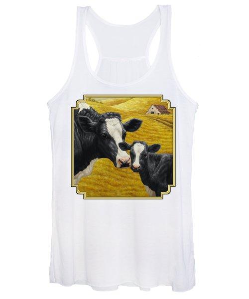 Holstein Cow And Calf Farm Women's Tank Top