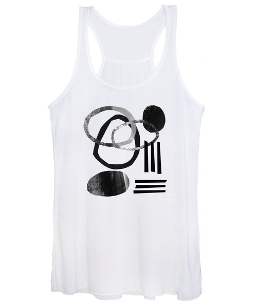 Black And White- Abstract Art Women's Tank Top