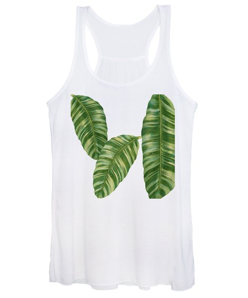 Rainforest Resort - Tropical Banana Leaf  Women's Tank Top