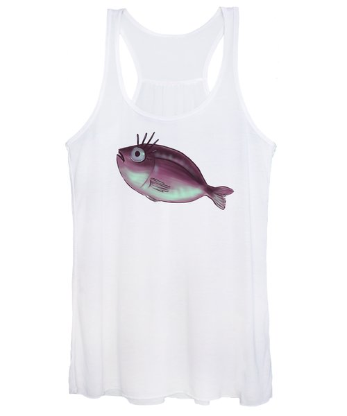 Funny Fish With Fancy Eyelashes Women's Tank Top