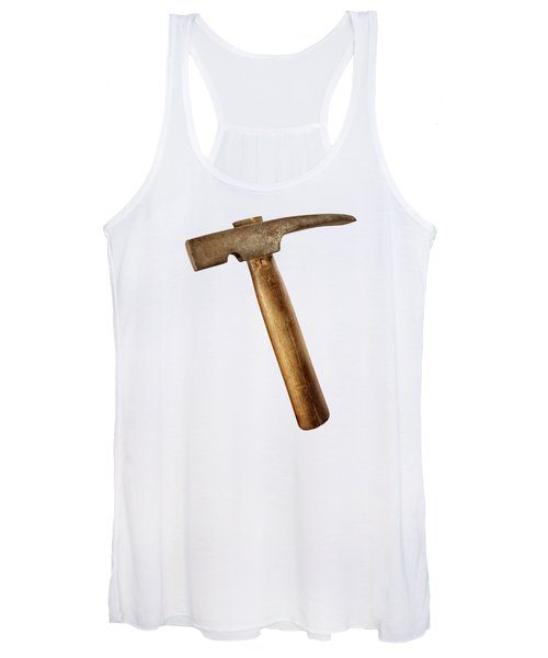 Antique Plumb Masonry Hammer On Color Paper Women's Tank Top