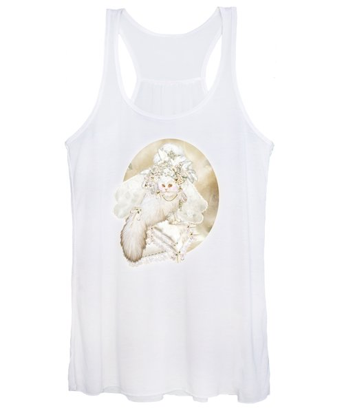 Cat In Fancy Bridal Hat Women's Tank Top