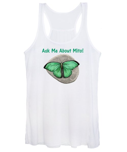 Ask Me About Mito T-shirt Or Tote Bag Women's Tank Top