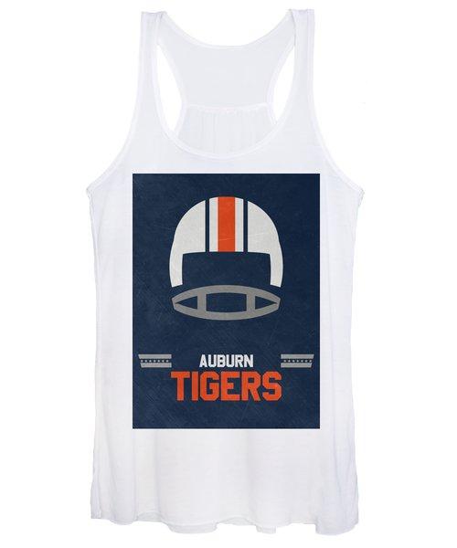 Auburn Tigers Vintage Football Art Women's Tank Top