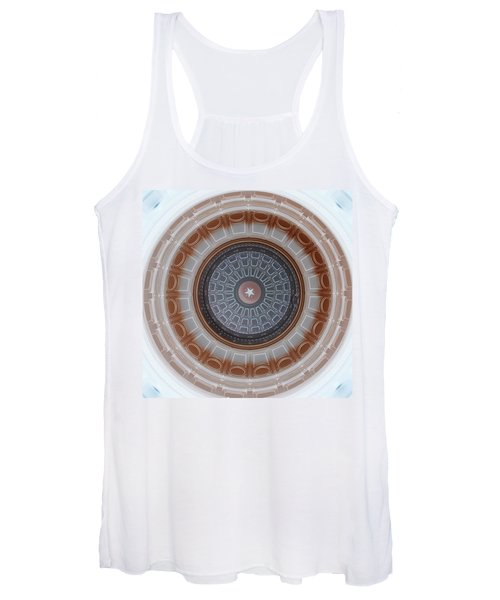 Austin Capitol Dome In Gray And Brown Women's Tank Top