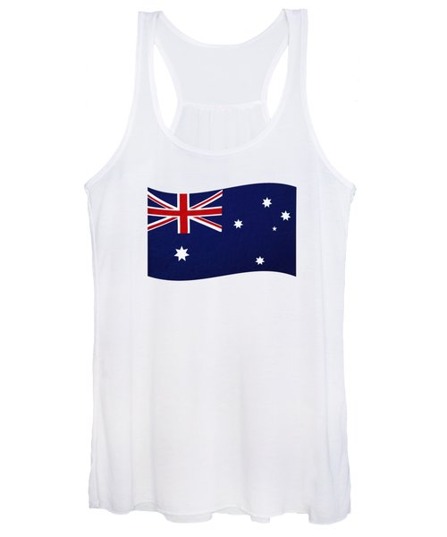 Australian Flag Waving Png By Kaye Menner Women's Tank Top