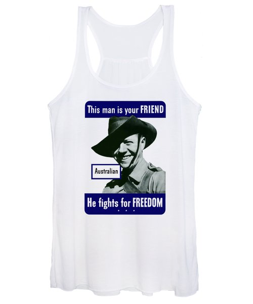Australian This Man Is Your Friend  Women's Tank Top