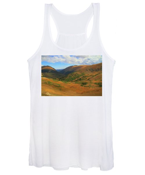 Autumn Valley From The Top Of Trail Ridge Road Women's Tank Top