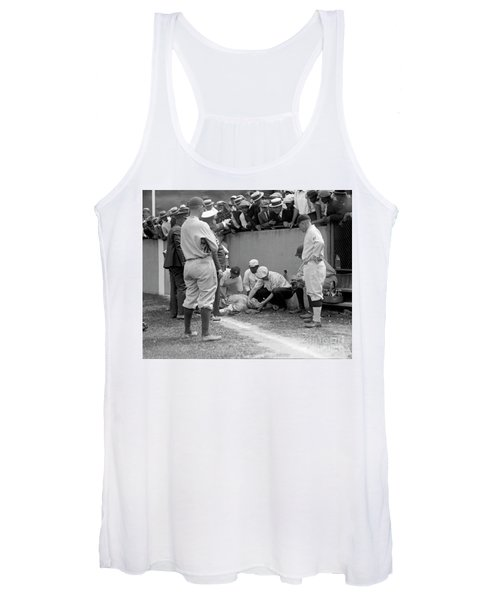 Babe Ruth Knocked Out By A Wild Pitch Women's Tank Top