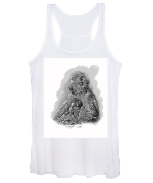 Baboon Mother And Young Women's Tank Top