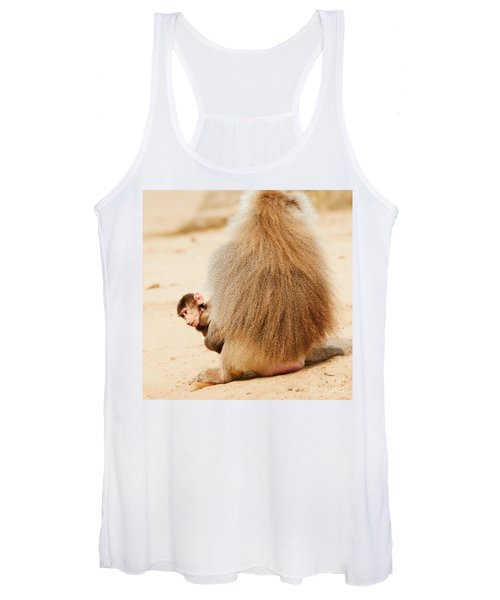 Baboon With A Baby  Women's Tank Top