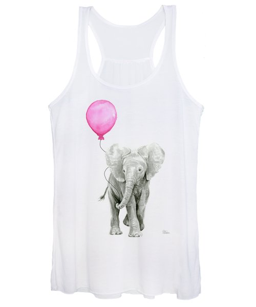 Baby Elephant Watercolor  Women's Tank Top