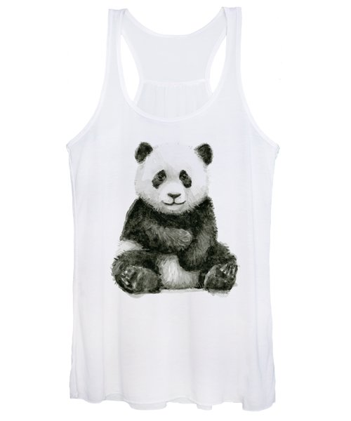 Baby Panda Watercolor Women's Tank Top