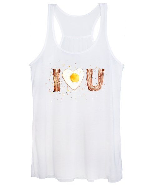 Bacon And Egg I Love You Women's Tank Top