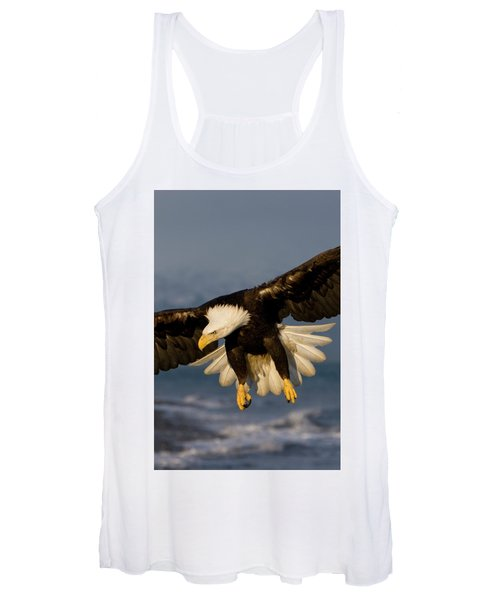Bald Eagle In Action Women's Tank Top