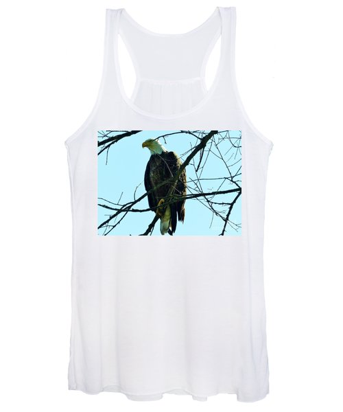 Bald Eagle Over The Root River Women's Tank Top