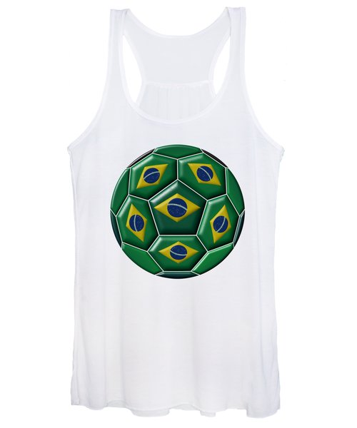 Ball With Brazilian Flag Women's Tank Top