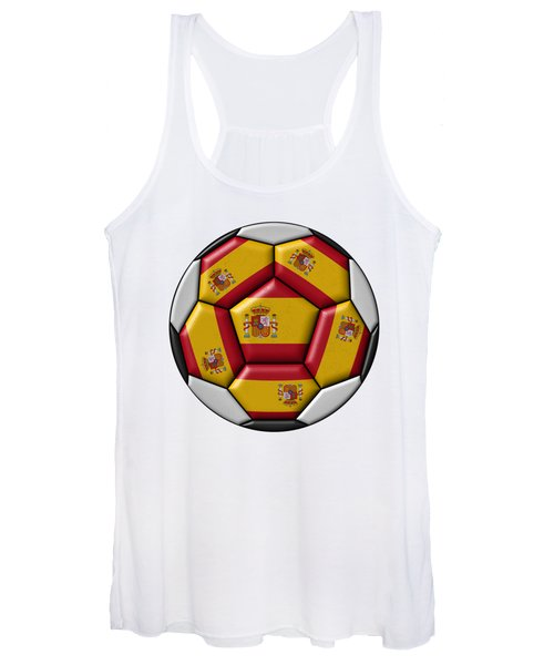 Ball With Spanish Flag Women's Tank Top
