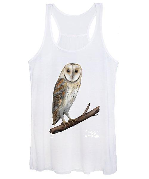 Barn Owl Screech Owl Tyto Alba - Effraie Des Clochers- Lechuza Comun- Tornuggla - Nationalpark Eifel Women's Tank Top