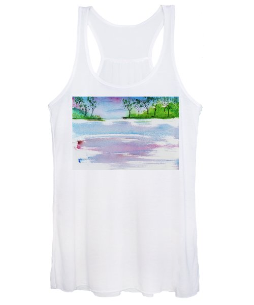 Gum Trees Frame The Sunset At Barnes Bay Women's Tank Top