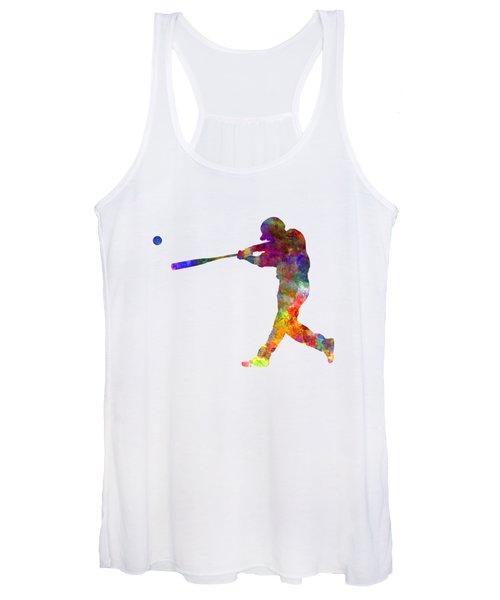 Baseball Player Hitting A Ball 02 Women's Tank Top