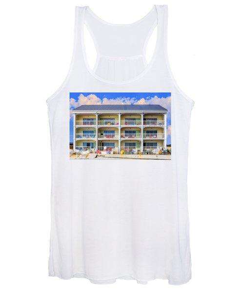 Beach Front Hotel Women's Tank Top