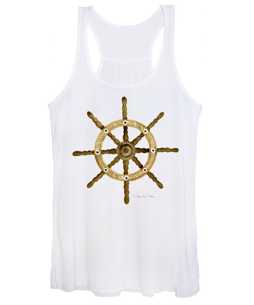 Beach House Nautical Boat Ship Anchor Vintage Women's Tank Top