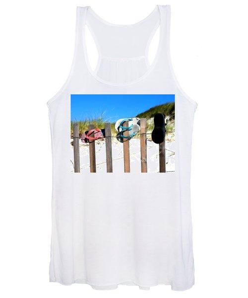 Beach Sandels  Women's Tank Top